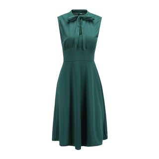 Sleeveless Ribbon A-Line Dress from Jolly Club