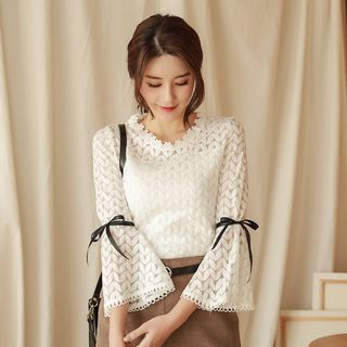 Bell-Sleeve Lace Top from Juanita