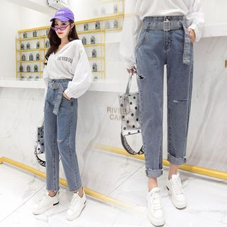 Cutout Baggy Cropped Jeans from Juanita