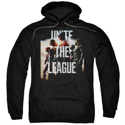 Justice League Movie Hoodie Dawn Unite the League Black Hoody from Justice League Movie Shirts