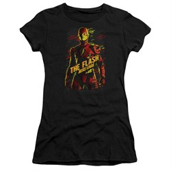 Justice League Movie Juniors Shirt The Flash Black T-Shirt from Justice League Movie Shirts