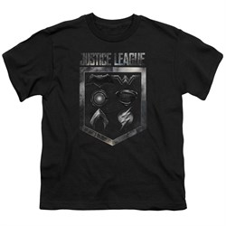 Justice League Movie Kids Shirt Shield of Emblems Black T-Shirt from Justice League Movie Shirts