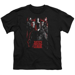Justice League Movie Kids Shirt The League Red Glow Black T-Shirt from Justice League Movie Shirts