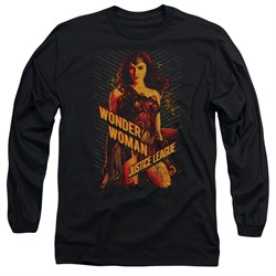 Justice League Movie Long Sleeve Shirt Wonder Woman Black Tee T-Shirt from Justice League Movie Shirts