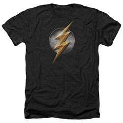Justice League Movie Shirt Flash Logo Heather Black T-Shirt from Justice League Movie Shirts