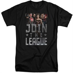 Justice League Movie Shirt Join The League Black Tall T-Shirt from Justice League Movie Shirts