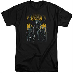 Justice League Movie Shirt Stand Up To Evil Black Tall T-Shirt from Justice League Movie Shirts