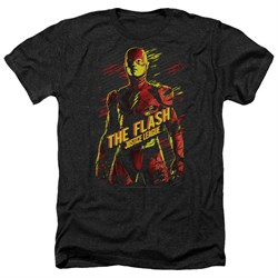 Justice League Movie Shirt The Flash Heather Black T-Shirt from Justice League Movie Shirts
