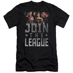 Justice League Movie Slim Fit Shirt Join The League Black T-Shirt from Justice League Movie Shirts