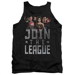 Justice League Movie Tank Top Join The League Black Tanktop from Justice League Movie Shirts