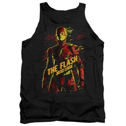 Justice League Movie Tank Top The Flash Black Tanktop from Justice League Movie Shirts