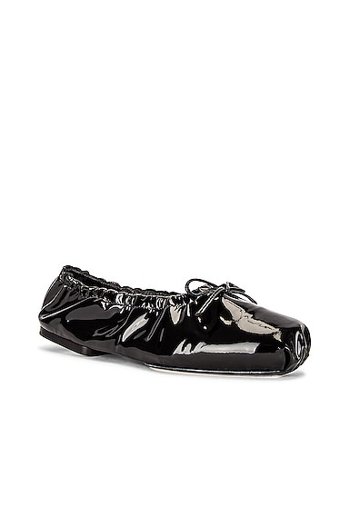 KHAITE Ashland Ballerina Flats in Black from KHAITE