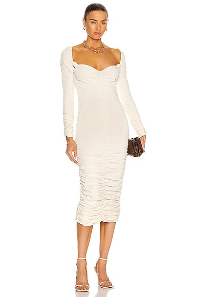 KHAITE Charmaine Dress in Ivory from KHAITE