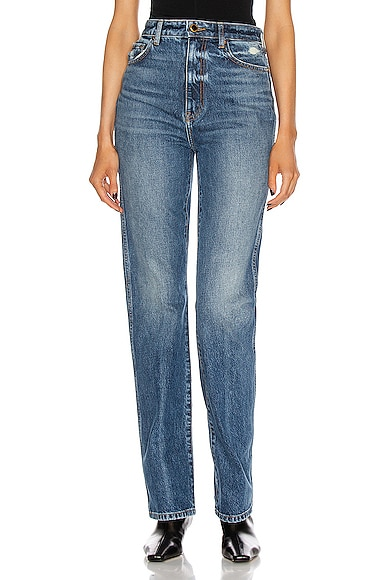 KHAITE Danielle Jean in Denim-Medium from KHAITE