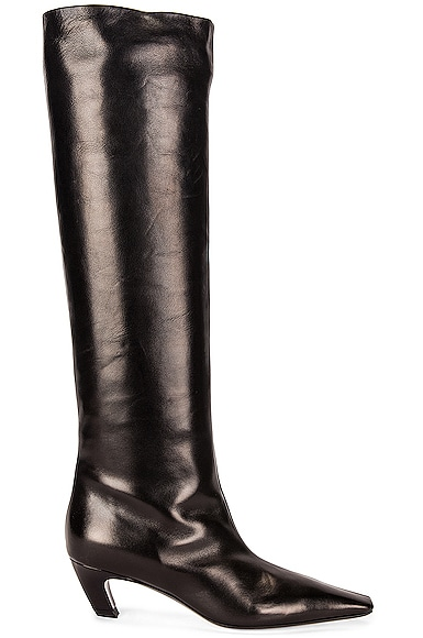 KHAITE Davis Knee High Boots in Black from KHAITE