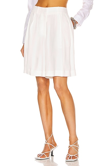 KHAITE Isabelle Short in White from KHAITE