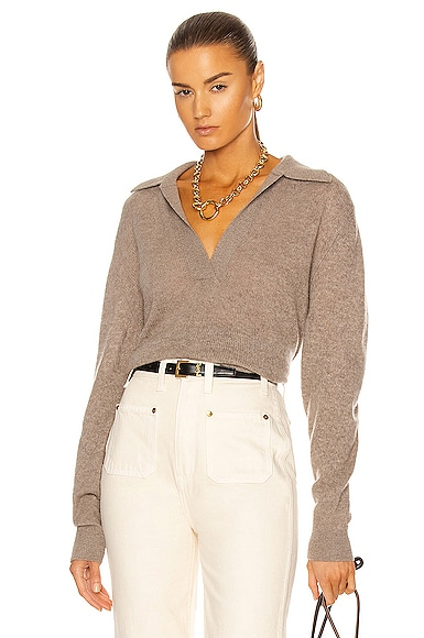 KHAITE Jo Pullover in Neutral from KHAITE
