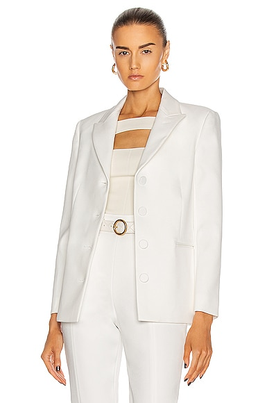 KHAITE Joan Blazer in White from KHAITE