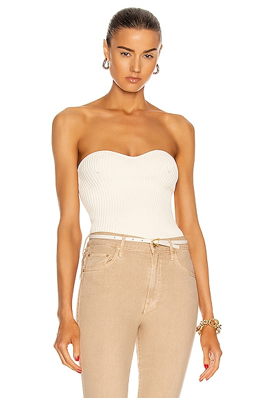 KHAITE Lucie Top in White from KHAITE