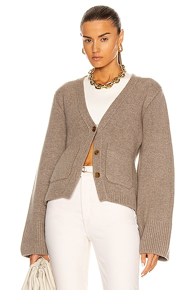 KHAITE Scarlet Cardigan in Neutral from KHAITE