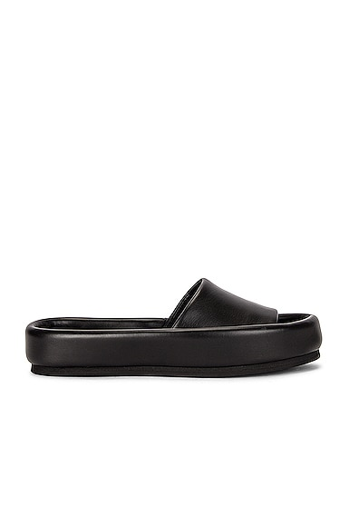 KHAITE Venice Pool Slides in Black from KHAITE