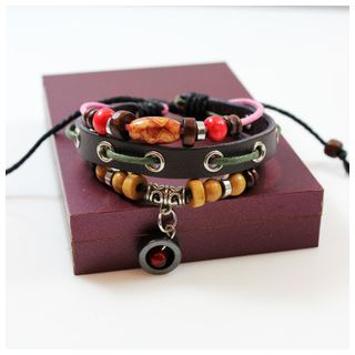 Beaded Genuine Leather Bracelet from KINNO
