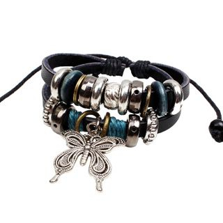 Butterfly Genuine Leather Bracelet from KINNO