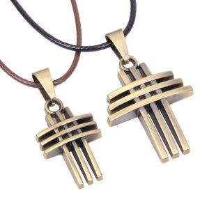 Couple Matching Cross Necklace from KINNO