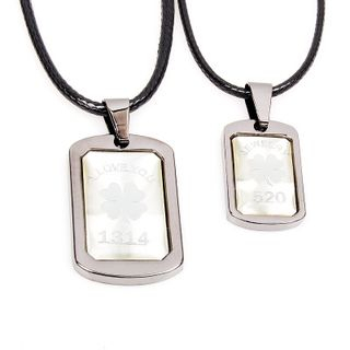 Couple Matching Tag Necklace from KINNO