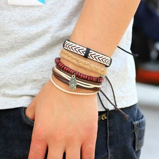 Genuine Leather Bracelet Set from KINNO