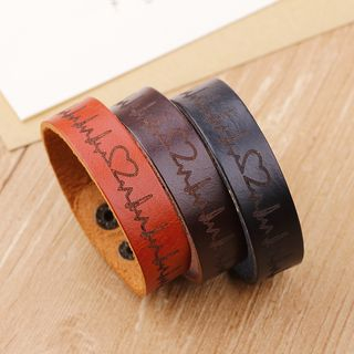 Heart Beat Genuine Leather Bracelet from KINNO