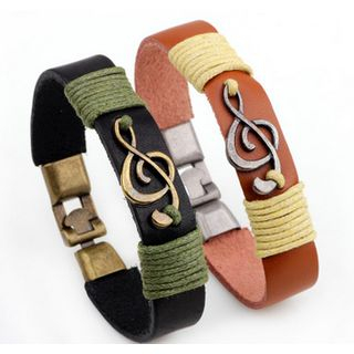 Musical Note Faux Leather Bracelet from KINNO
