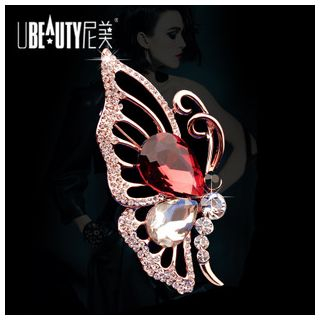 Rhinestone Butterfly Brooch from KINNO