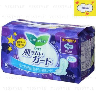 Kao - Laurier Speed Skin Cleaning Wing Sanitary Napkin (30cm) 10 pcs from Kao