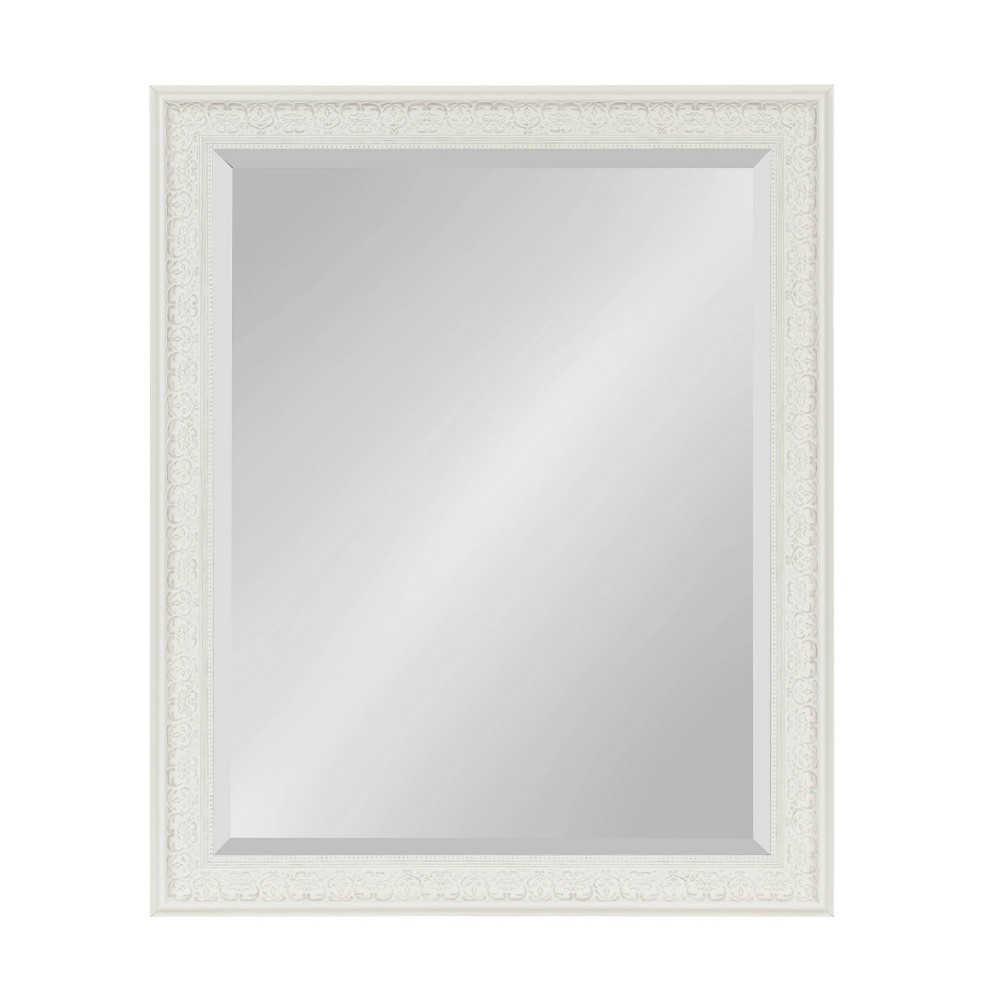 "27"" x 33"" Alysia Framed Wall Mirror White - Kate and Laurel from Kate & Laurel All Things Decor"