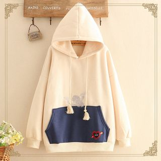 Cupid Embroidered Hooded Sweater from Kawaii Fairyland