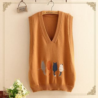 Embroidered Knit Vest from Kawaii Fairyland