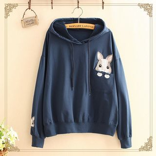 Rabbit Embroidered Hoodie from Kawaii Fairyland
