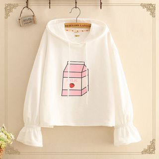 Strawberry Milk Box Hooded Sweater from Kawaii Fairyland