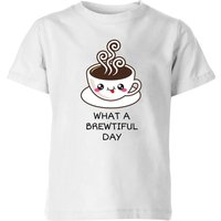 My Little Rascal What A Brewtiful Day Kids' T-Shirt - White - 7-8 Years - White from My Little Rascal