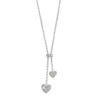 18K White Gold Necklace with Diamonds from Keleo