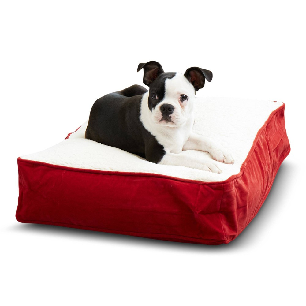 Kensington Garden Buster Rectangle Pillow Dog Bed - XS - Crimson from Kensington Garden