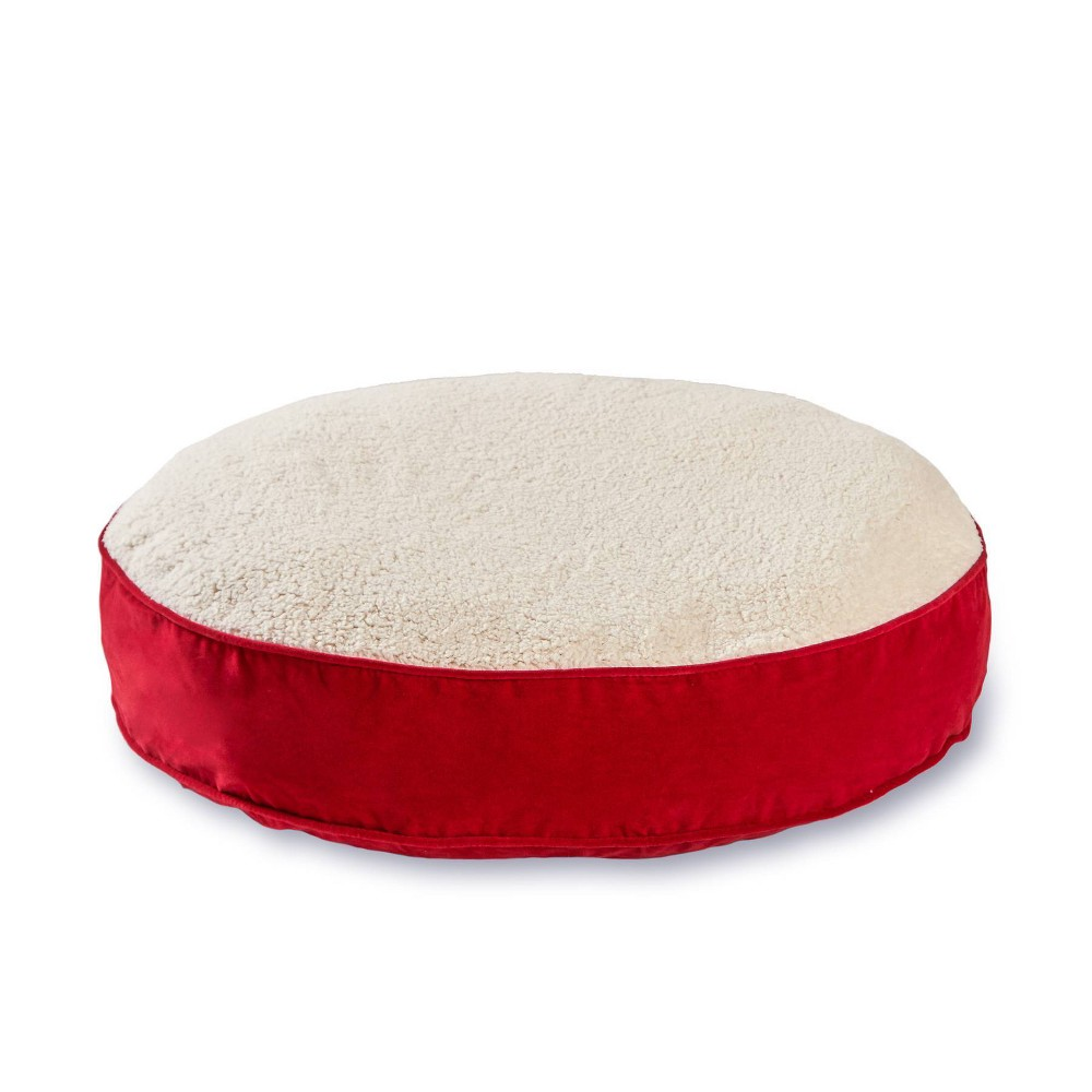 Kensington Garden Scout Deluxe Round Pillow Dog Bed - L - Crimson from Kensington Garden