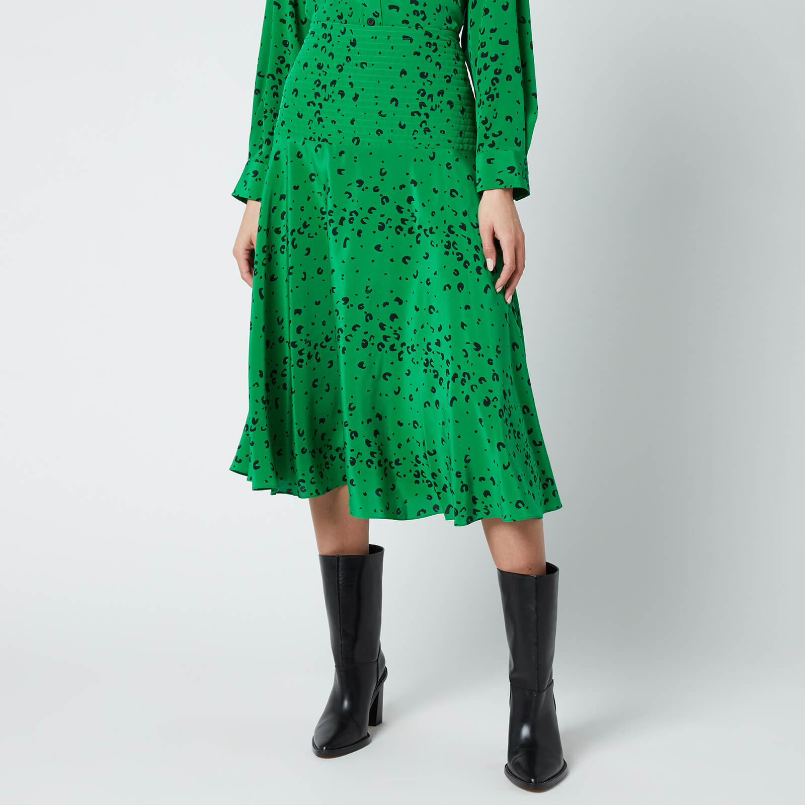 KENZO Women's Printed Midi Fluid Skirt - Green - EU 40/UK 10 from Kenzo