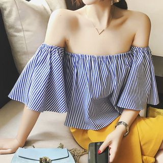 Striped Off-Shoulder Blouse from Kingfisher