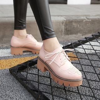 Platform Lace-Up Shoes from Kireina