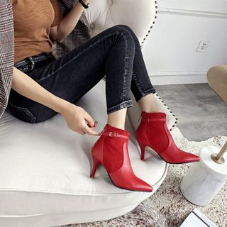 Pointed High Heel Ankle Boots from Kireina