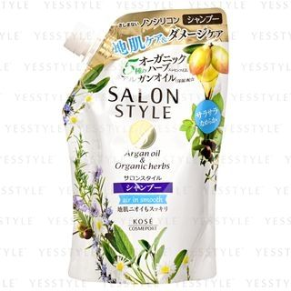 Kose - Salon Style Air in Smooth Shampoo (Argan Oil & Organic Herbs) (Refill) 360ml from Kose