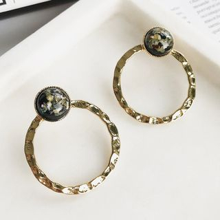 Alloy & Stone Hoop Earring from Kulala