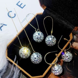 Crystal Ball Dangle Earring from Kulala